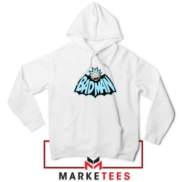 Bad Man Logo Rick and Morty White Jacket