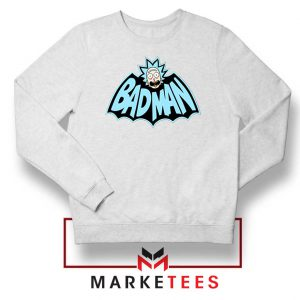Bad Man Logo Rick and Morty White Sweater