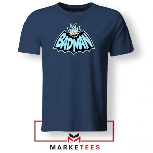 Batman Logo Rick and Morty Navy Tee