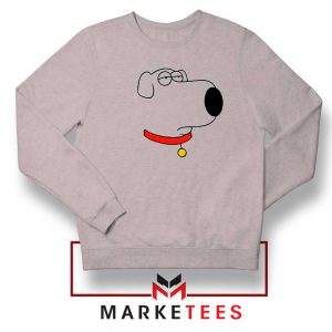 Brian Griffin Face Sport Grey Sweater