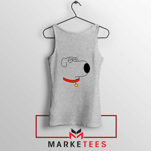 Brian Griffin Face Sport Grey Tank Top