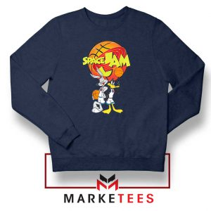 Bugs Bunny Daffy Comedy Film Navy Blue Sweater