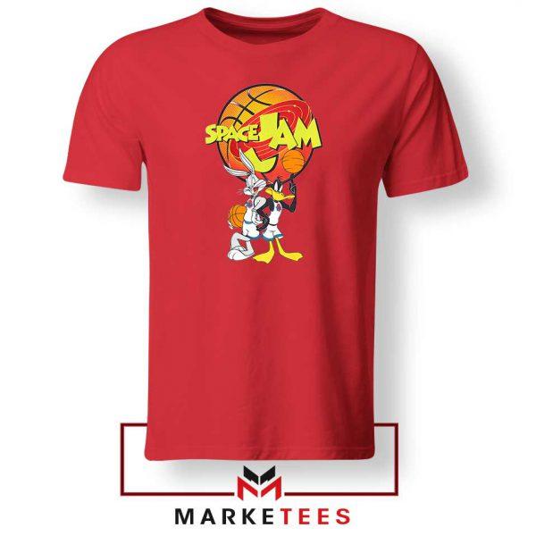 Bugs Bunny Daffy Comedy Film Red Tshirt