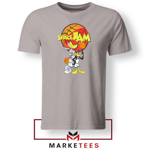 Bugs Bunny Daffy Comedy Film Sport Grey Tshirt