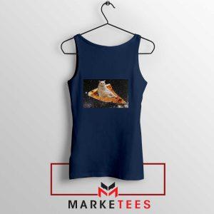 Cat Pizza Funny Design Navy Blue Tank Top