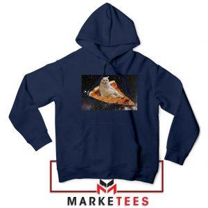 Cat Pizza Funny Graphic Navy Jacket