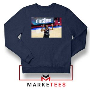 Embiid The 76ers Design Navy Blue Sweater
