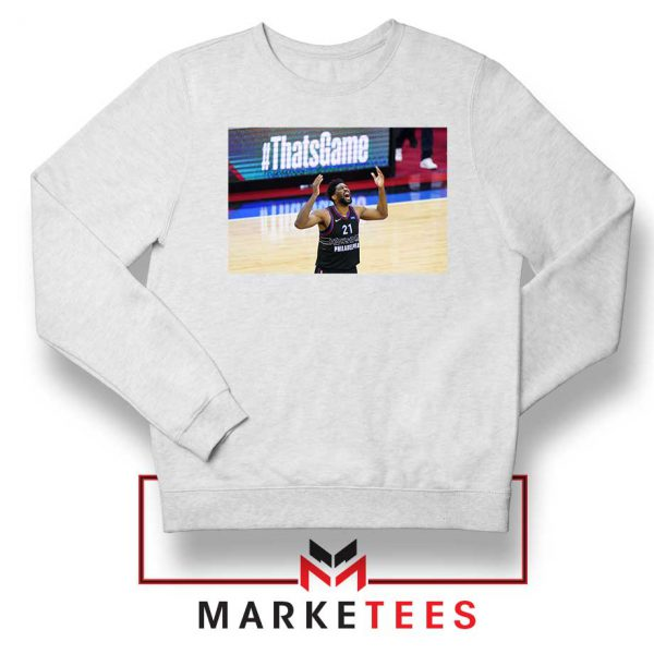 Embiid The 76ers Design White Sweater