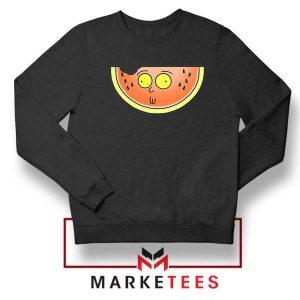 Funny Watermelon Morty Black Sweater