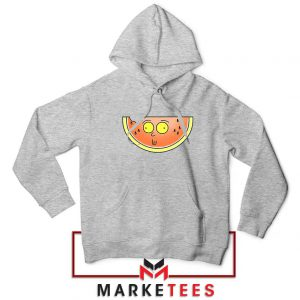 Funny Watermelon Morty Grey Hoodie