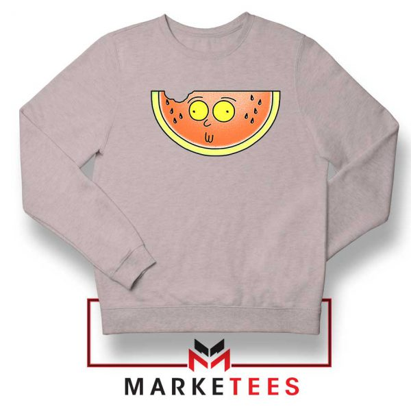 Funny Watermelon Morty Grey Sweater