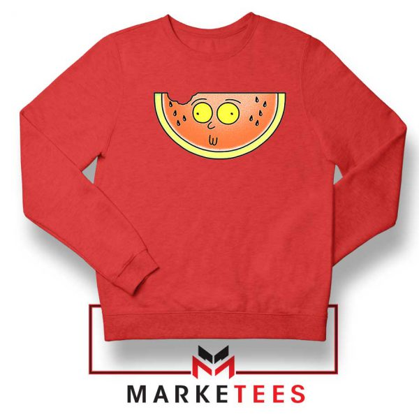 Funny Watermelon Morty Red Sweater