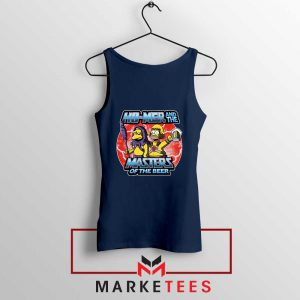Homer Master Of The Beer Navy Blue Tank Top