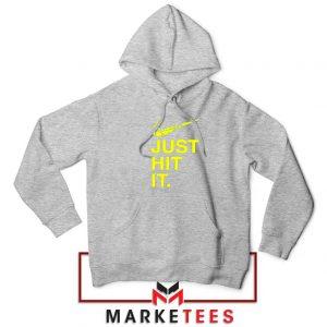 Just Hit It Logo Design Parody Sport Grey Jacket
