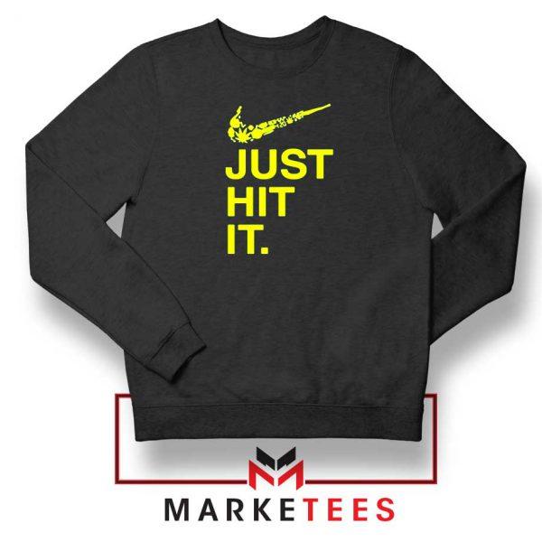 Just Hit It Logo Parody Graphic Sweater