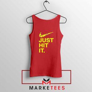 Just Hit It Logo Parody Red Tank Top