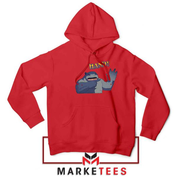 King Shark Says Hand Red Jacket