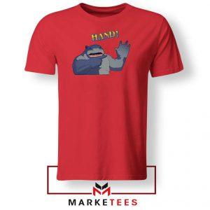 King Shark Says Hand Red Tee