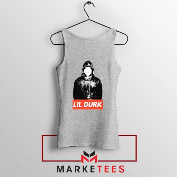 Lil Durk Chicago Rapper Grey Tank Top