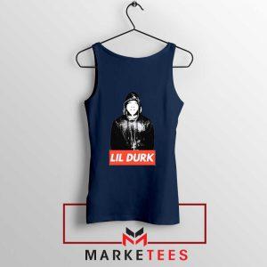 Lil Durk Chicago Rapper Navy Tank Top