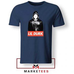 Lil Durk Chicago Rapper Navy Tee