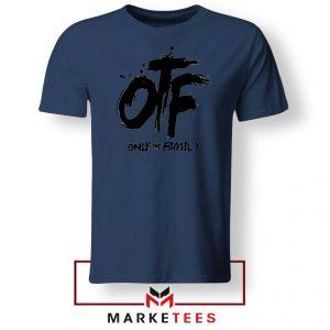 Lil Durk OTF Rap Group Navy Tshirt