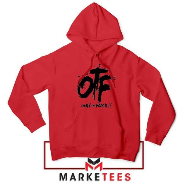 Lil Durk OTF Rap Group Red Hoodie