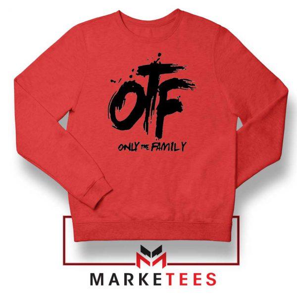 Lil Durk OTF Rap Group Red Sweatshirt