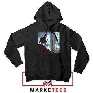 Lil Peep Broken Smile Design Black Jacket