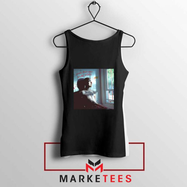 Lil Peep Broken Smile Design Black Tank Top