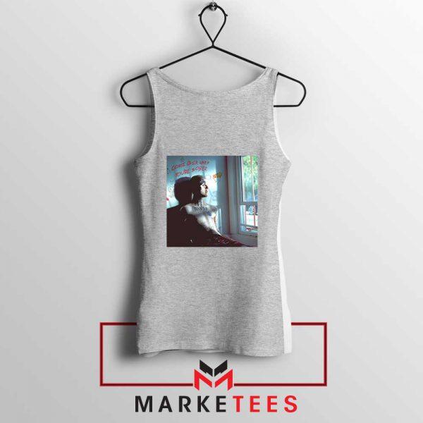 Lil Peep Broken Smile Design Grey Tank Top