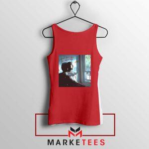 Lil Peep Broken Smile Design Red Tank Top