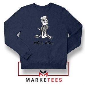 Lil Peep Hellboy Simpson Funny Black Sweatshirt