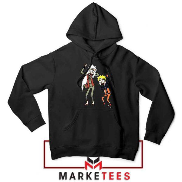 Naruto Rick Morty Design Black Jacket