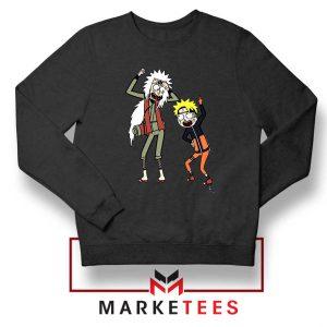 Naruto Rick Morty Design Black Sweater