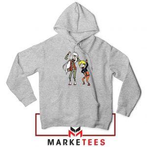 Naruto Rick Morty Design Grey Jacket