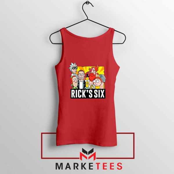 New Design Ricks Six Red Tank Top