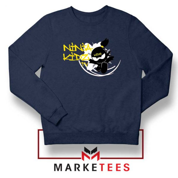 Ninja Kidz TV Family Navy Blue Sweatshirt