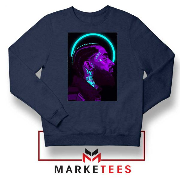 Nipsey Hussle The Marathon Navy Blue Sweatshirt
