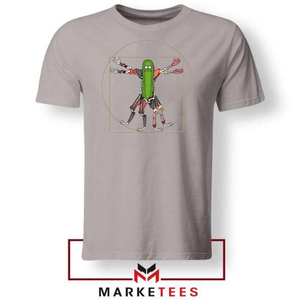 Pickle Rick Design Renaissance Grey Tshirt