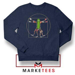 Pickle Rick Design Renaissance Navy Sweatshirt