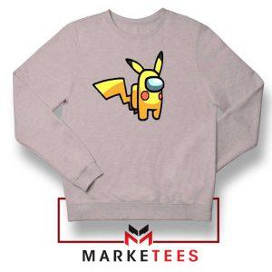 Pikachu Among US Pokemon Grey Sweater