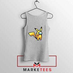 Pikachu Among US Pokemon Grey Tank Top