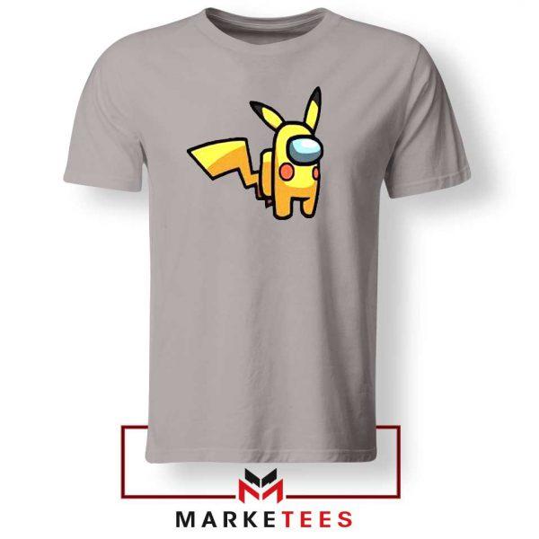 Pikachu Among US Pokemon Grey Tee