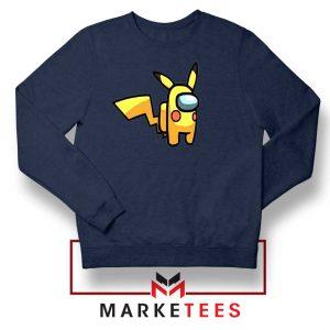 Pikachu Among US Pokemon Navy Blue Sweater