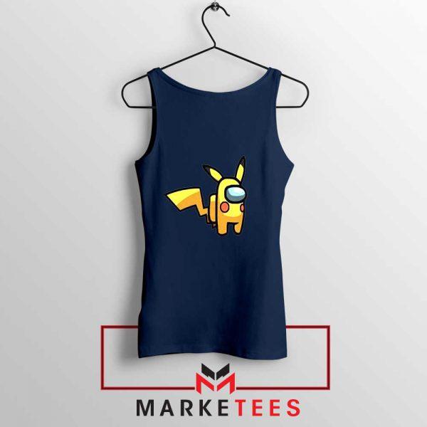 Pikachu Among US Pokemon Navy Blue Tank Top