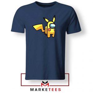 Pikachu Among US Pokemon Navy Tee
