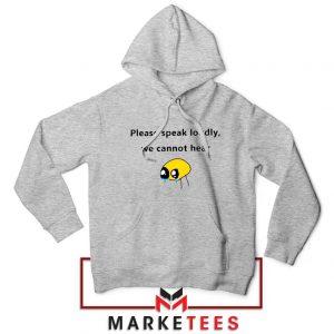 Please Speak Loudly Design Grey Jacket