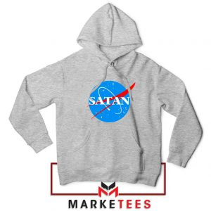 Satan Space Logo Parody Sport Grey Hoodie
