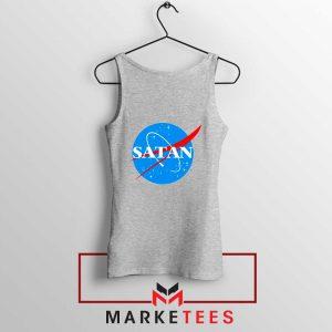 Satan Space Logo Parody Sport Grey Tank Top